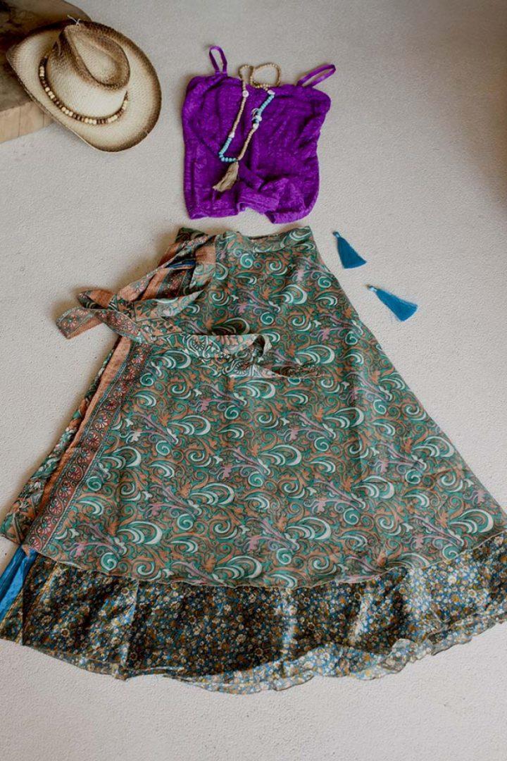 sari w zalm groen
