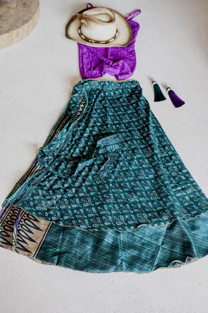 sari w zeegroen