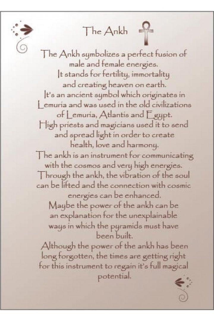 Ankh healing tekst