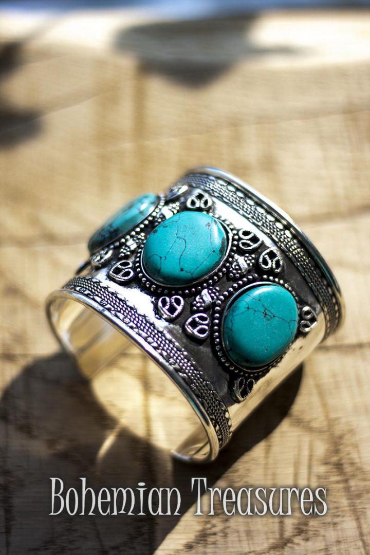 armband  blauwe stenen