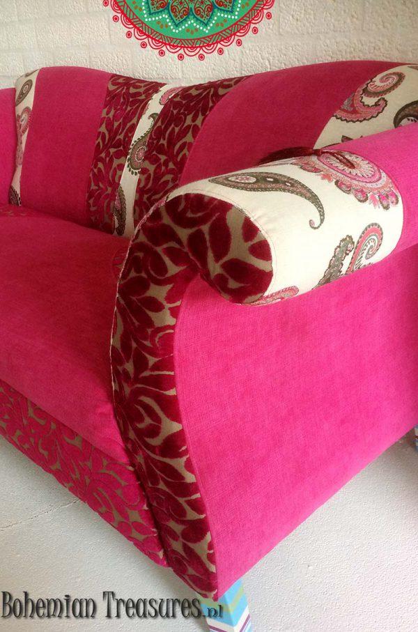 bankje roze