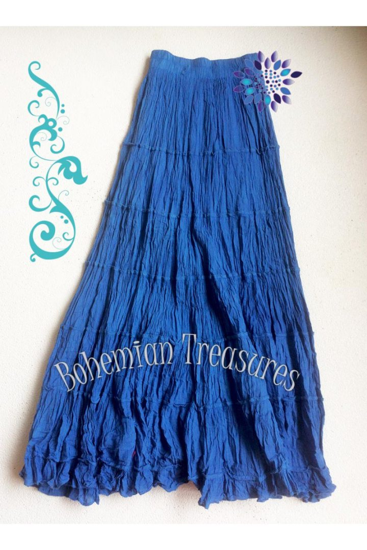 bohemian boho gypsy stroken rok aqua blauw