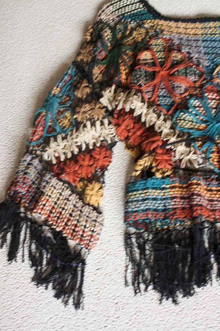 bohemian gypsy tuniek braziliaans knoopwerk donkerblauw terra