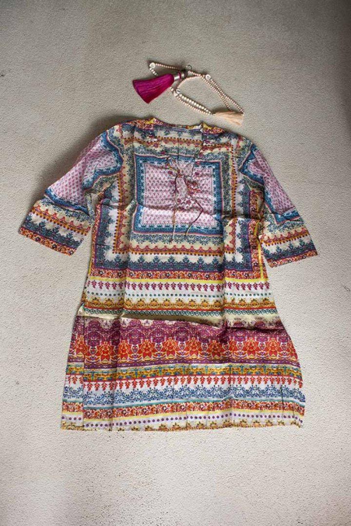 bohemian gypsy tuniek katoen met kleurtjes en spiegeltjes