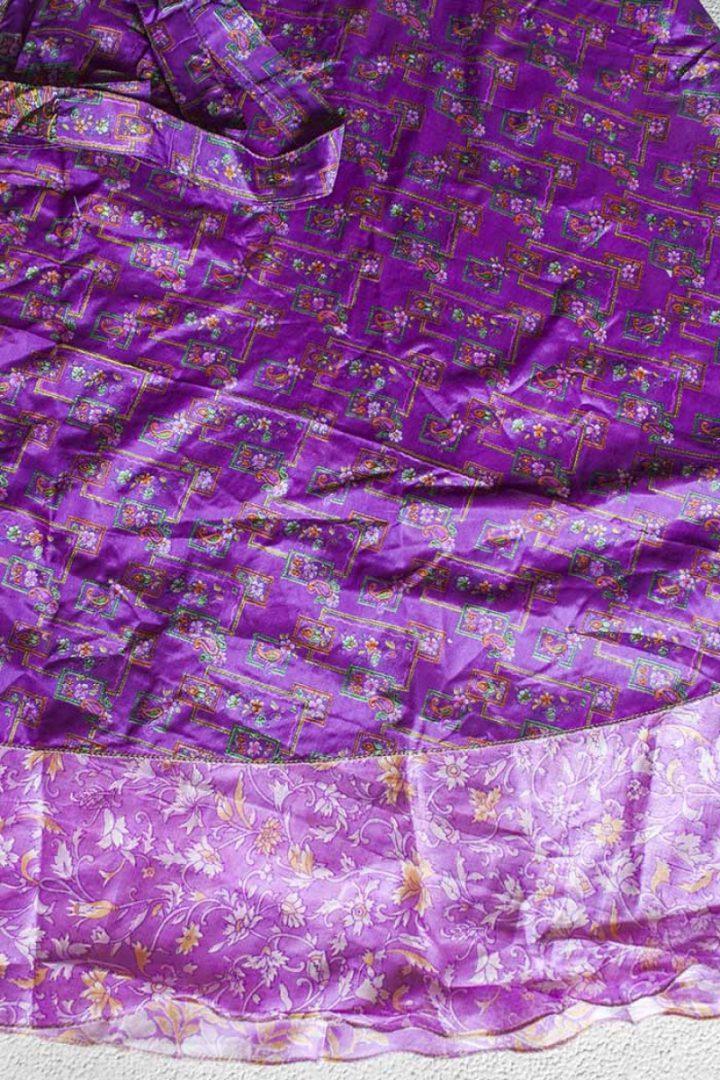 boho ibiza bohemian sari wikkelrok roze paars