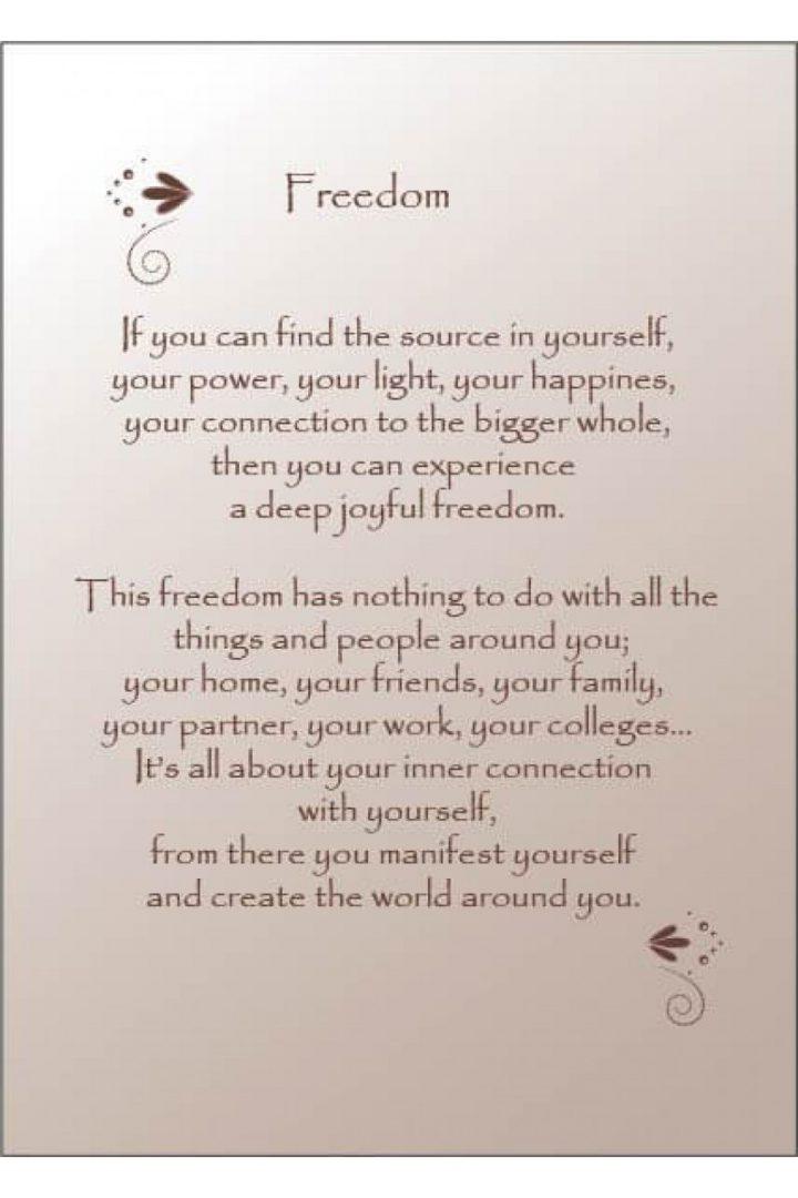 freedom tekst