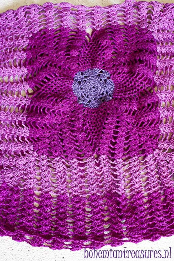 gehaakt truitje roze paars boho