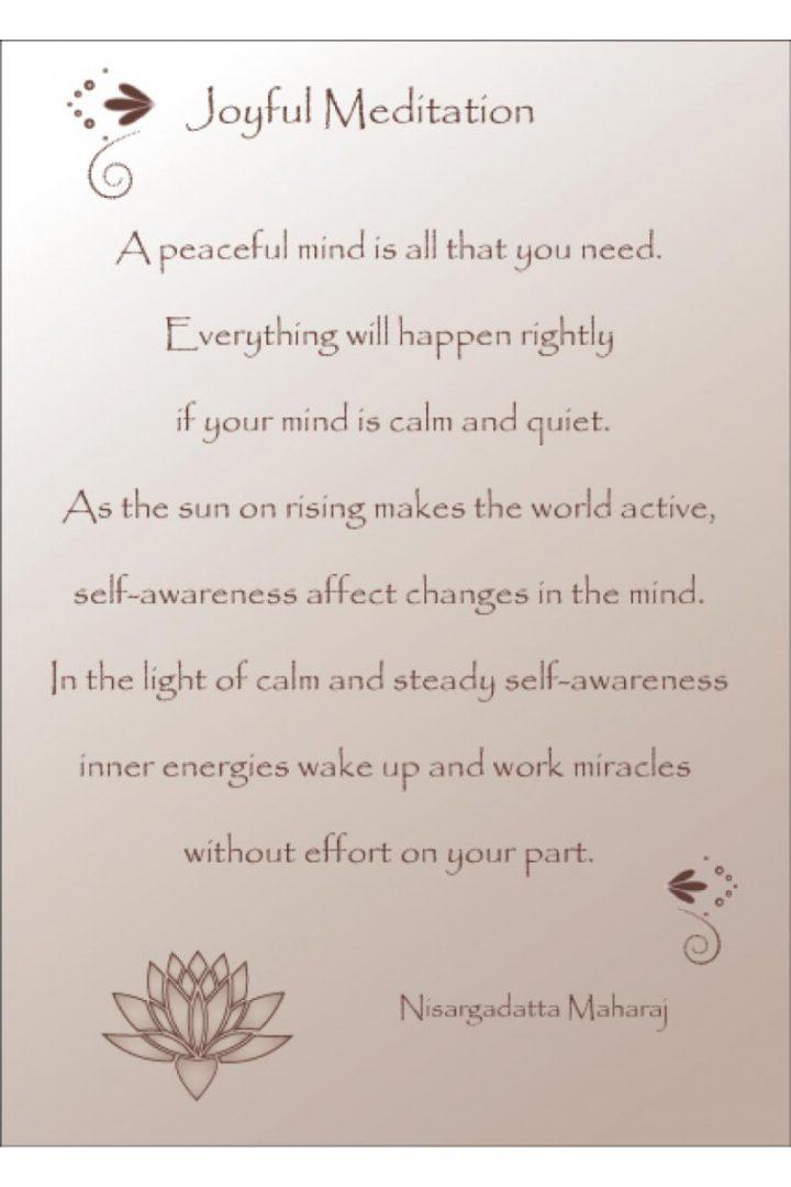 joyfull meditation tekst