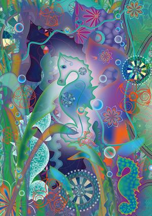 magical seahorses