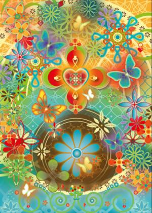 magische kaart happy butterflies e