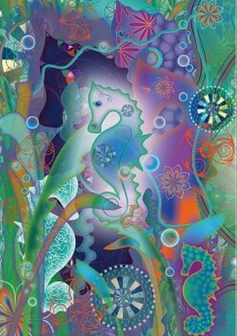 magische kaart magical seahorses e