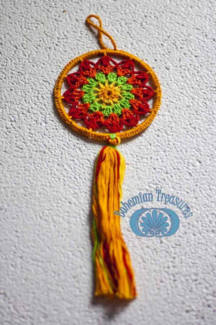 mandala oranje geel
