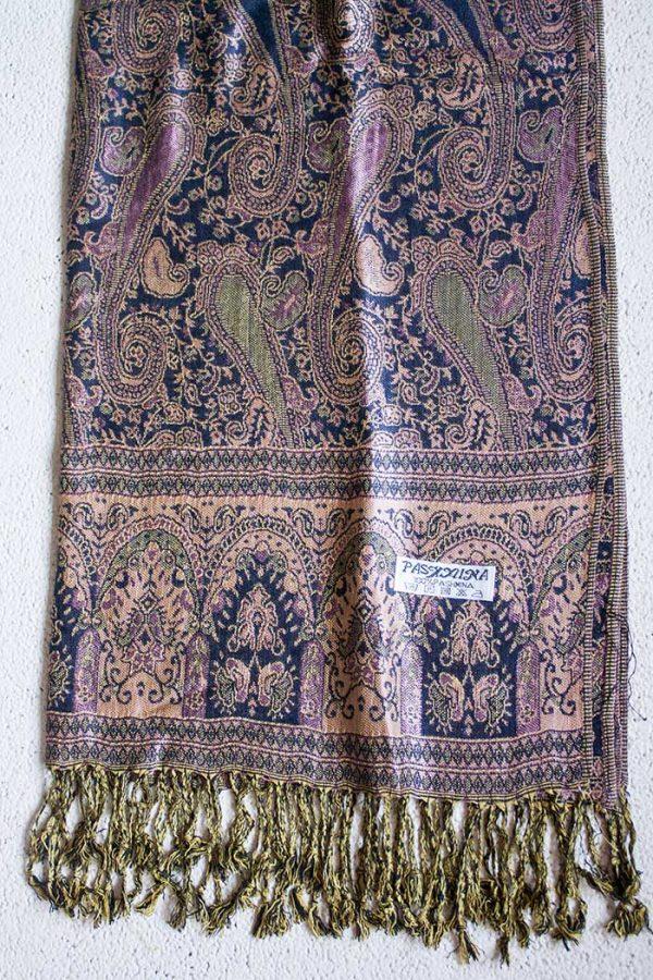 pashmina sjaal blauw zachtroze