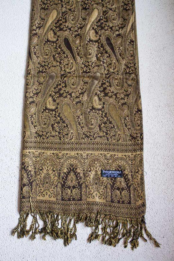 pashmina sjaal bruin creme