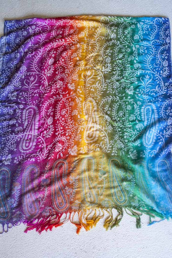 pashmina sjaal rainbow color