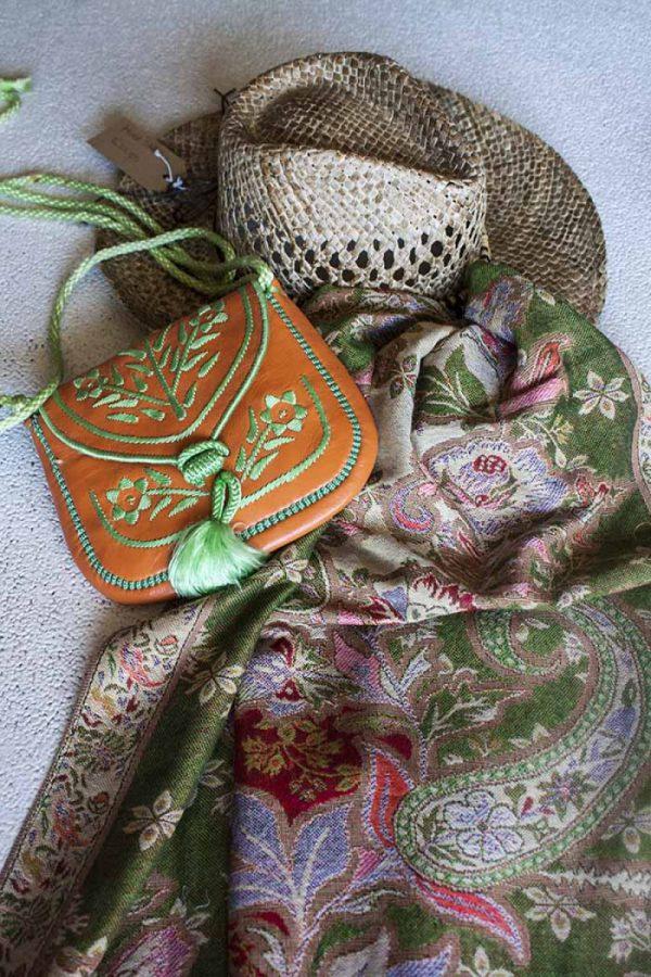 pashmina sjaal rainbow groen oranje