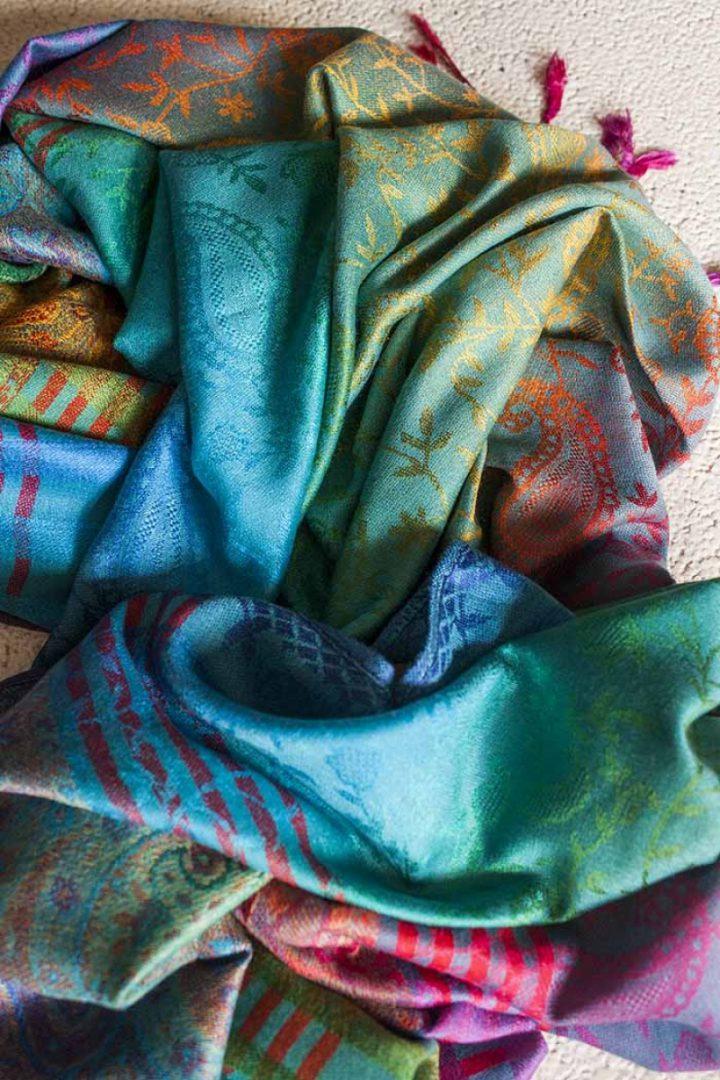 pashmina sjaal regenboog