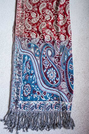 pashmina sjaal rood wit blauw