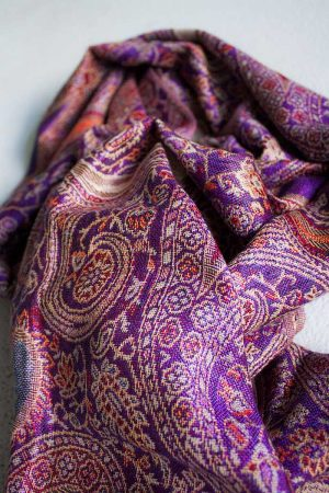 pashmina sjaal roze paars oranje
