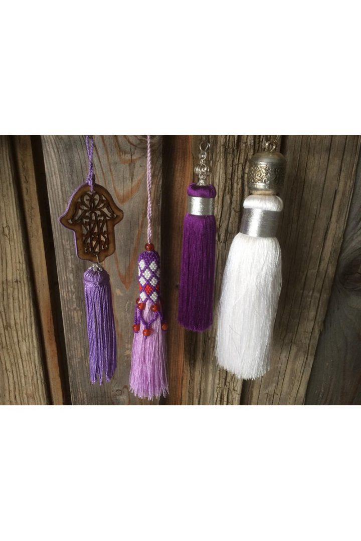 sfeer hangers paars wit