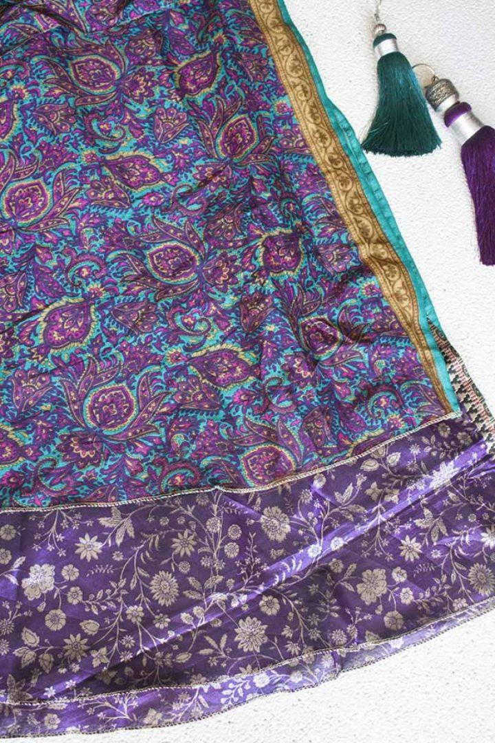 wikkelrok sari boho bohemian gypsi paars paars