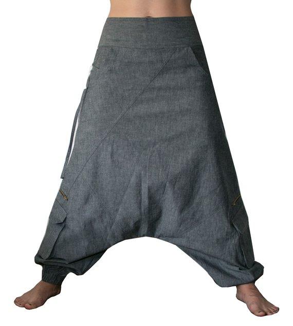 denim harem broek