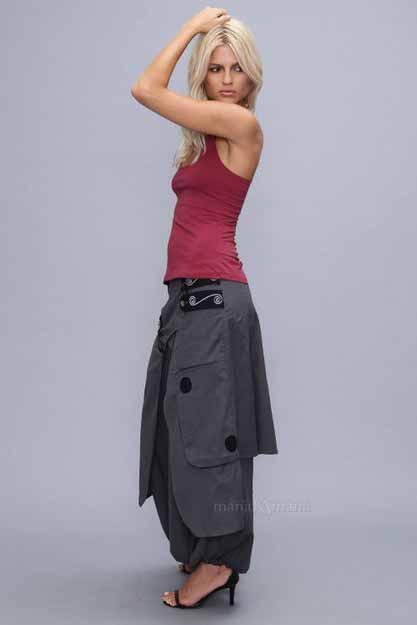 harem rok broek grijs