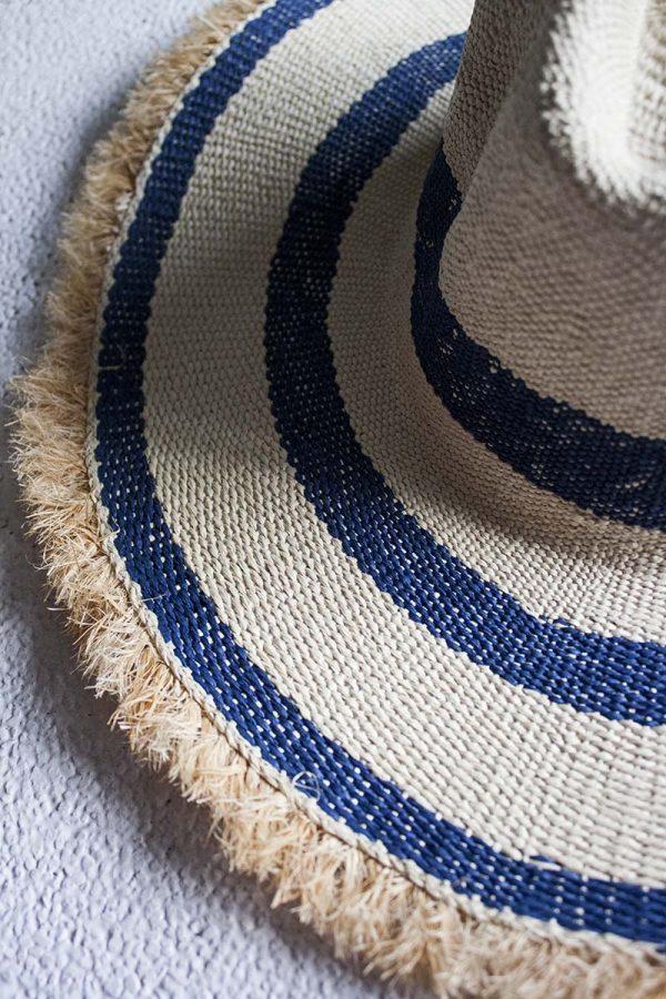 Ibiza hoed paper wit blauw