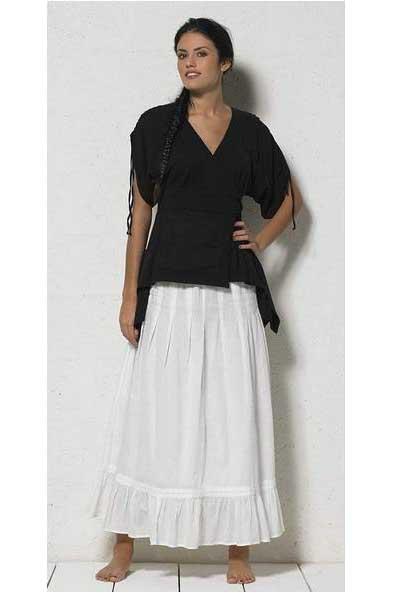 gebreide zwarte kimono tuniek