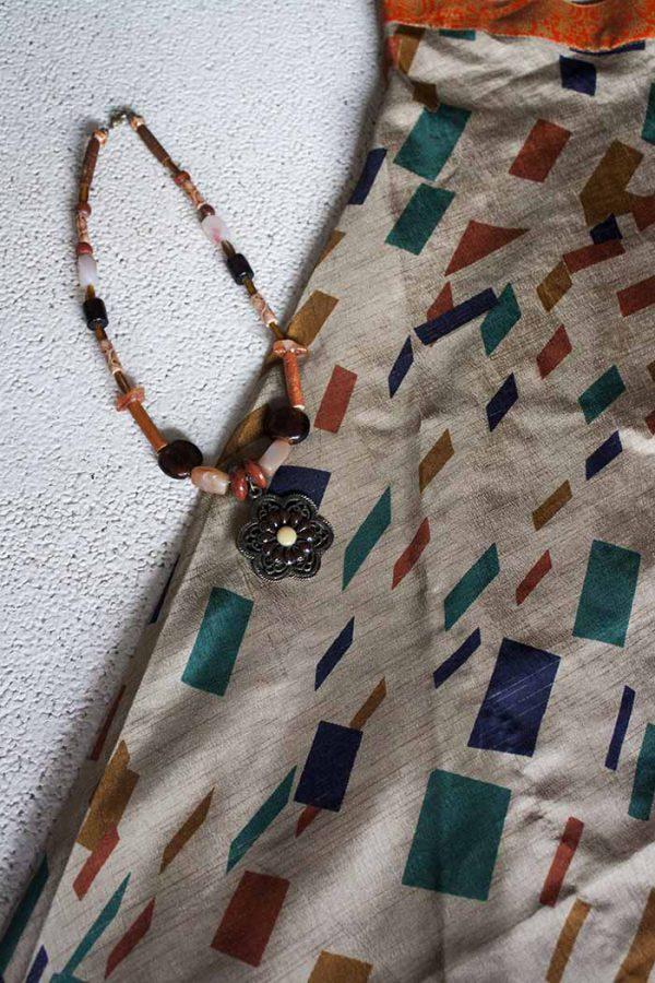 gipsy hippie boho wikkel rok sari oranje