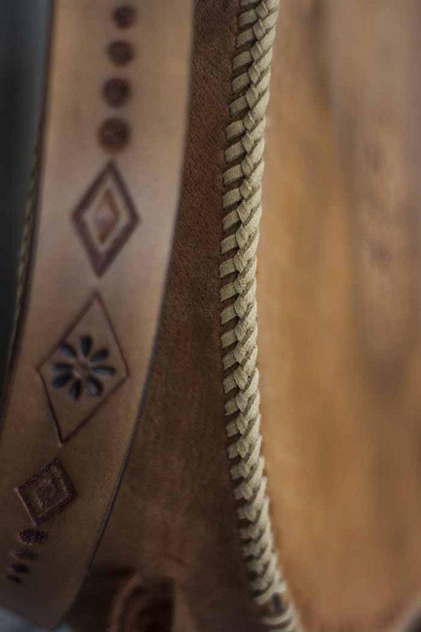 gypsy schoudertas handgemaakt tuigleer
