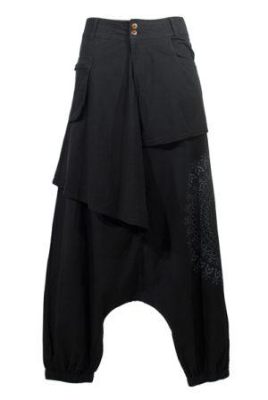 harembroek met print zwart
