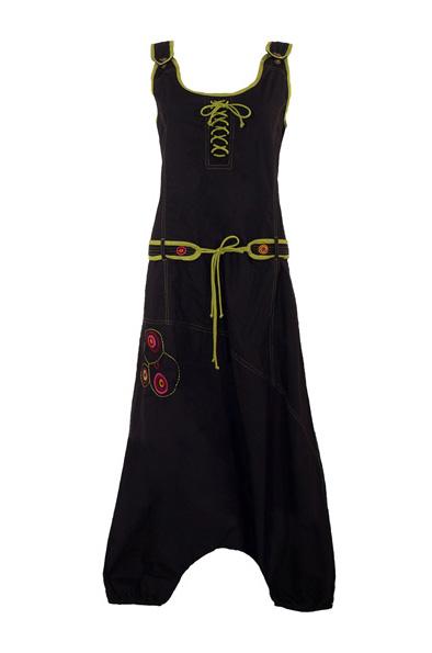 jumpsuit zwart met embroidery