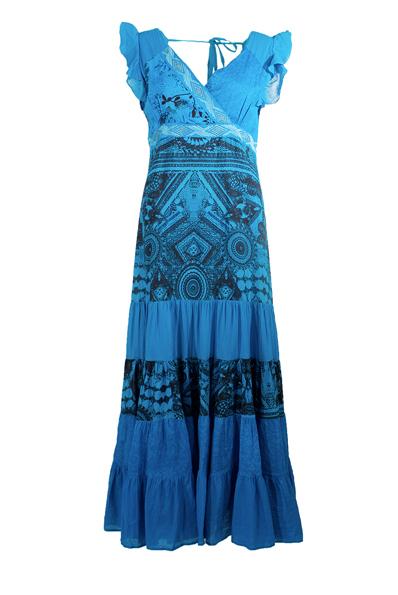 jurk turqoise licht en donker