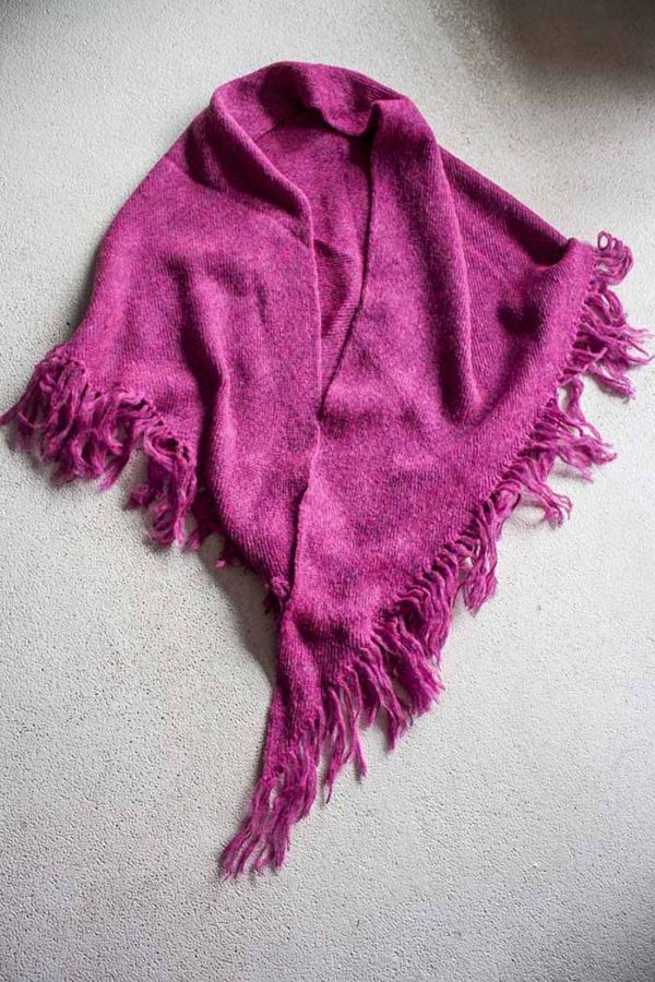 poncho pink acryl wol