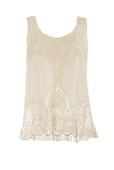 witte top met embroidery hemd