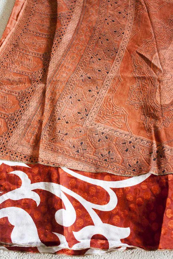 sari India wikkelrok gypsy licht en donker terra