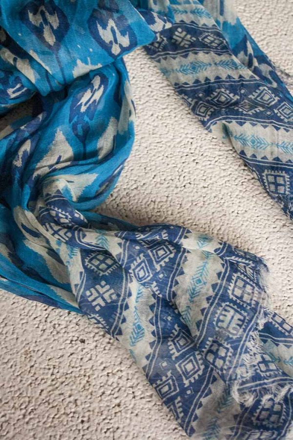 sjaal otra cosa blauw