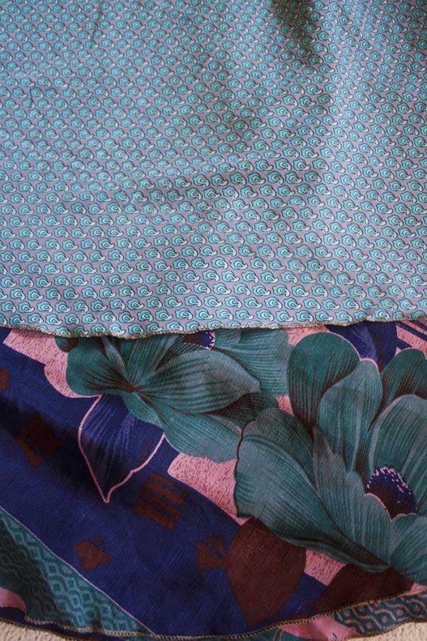 wikkelrok sari boho bohemian gypsy blauw lichtblauw zachtroze