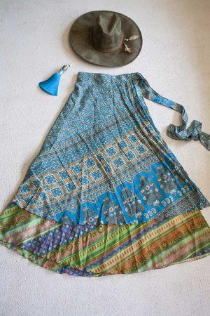 wikkelrok sari boho bohemian gypsy vrolijk zachte pastelkleurtjes