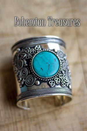 armband  blauwe steen