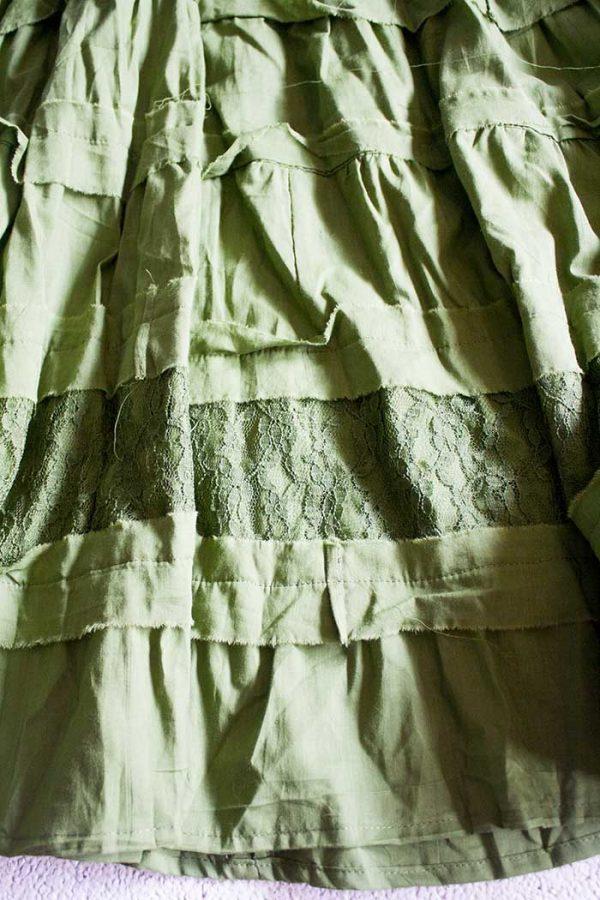 gipsy strokenrok groen lang