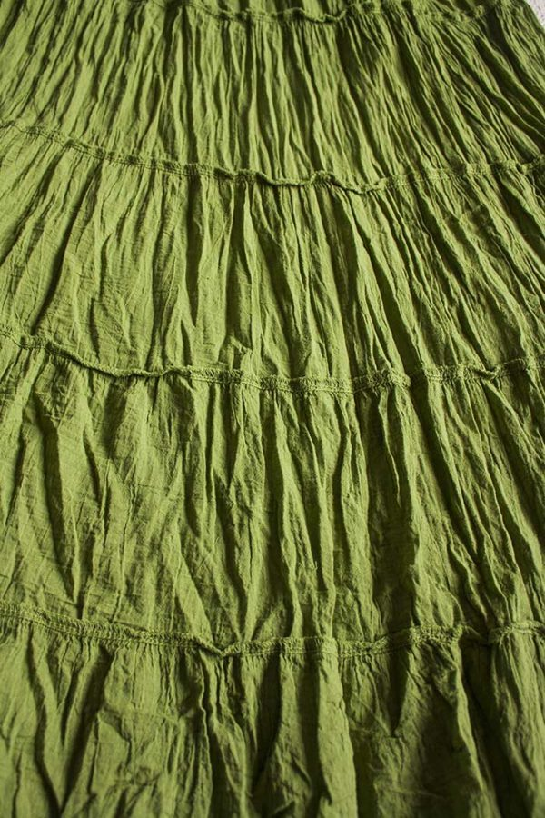 gipsy strokenrok uni zacht natuur groen