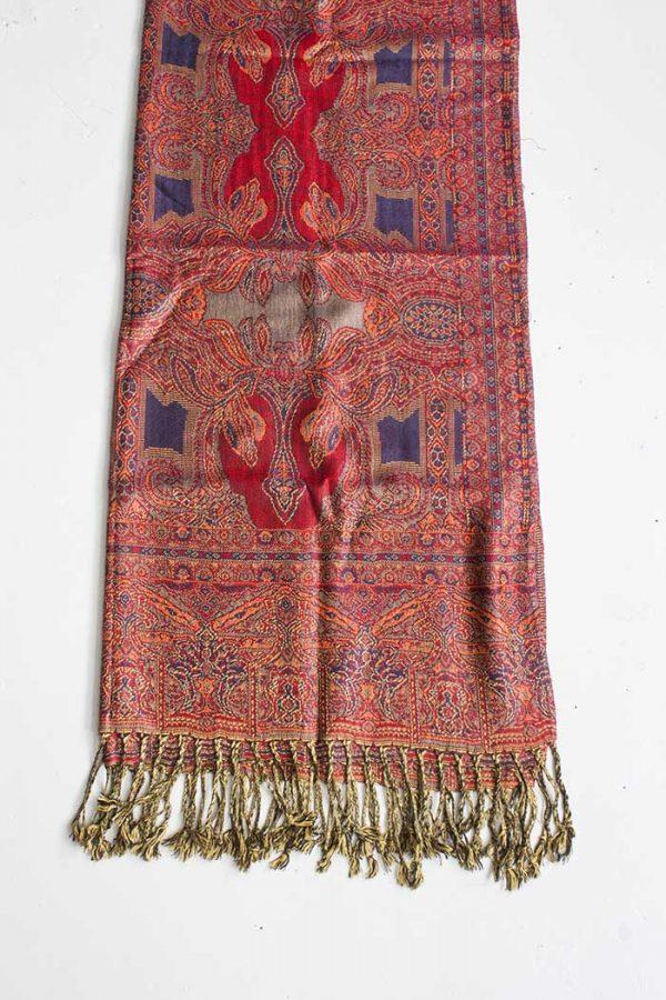 Sjaal pashmina paars rood