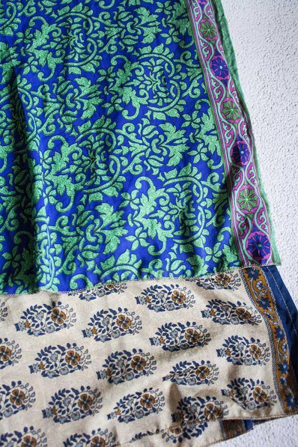 Boho gipsy magische wikkelrok groen blauw