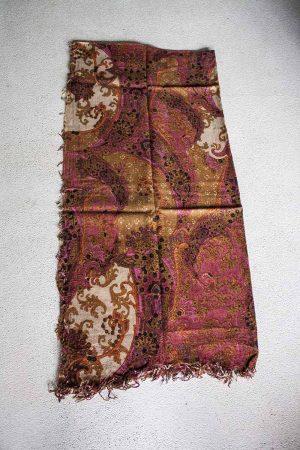 sjaal  wol roze bruin