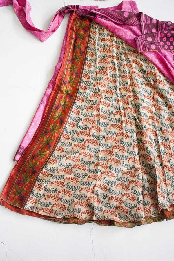 magische sari wikkelrok bohemian dieproze met terra