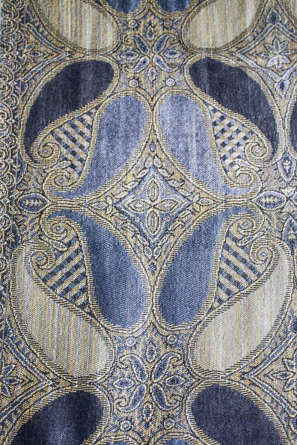 Pashmina sjaal met franjes grijs donkergrijs goud