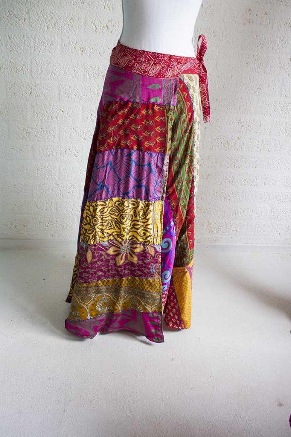 gipsy wikkelrok multicolor patch design