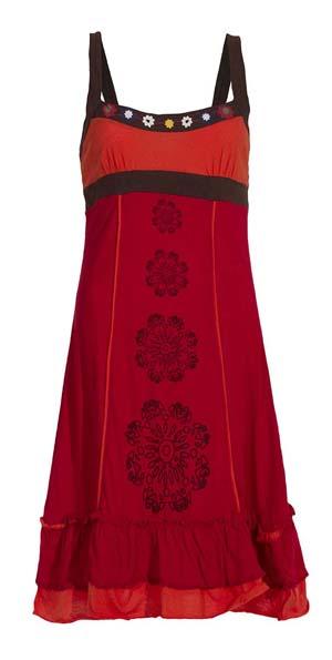 Jurkje rood oranje bruin tricot